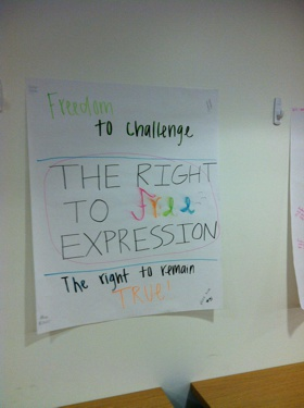 The Right to Free Expression Poster